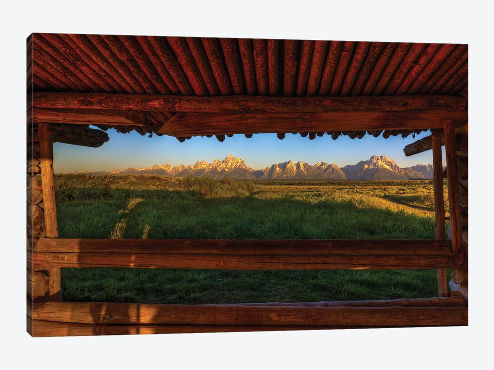 Breezeway View Of The Grand Tetons by Bill Sherrell 1-piece Canvas Artwork