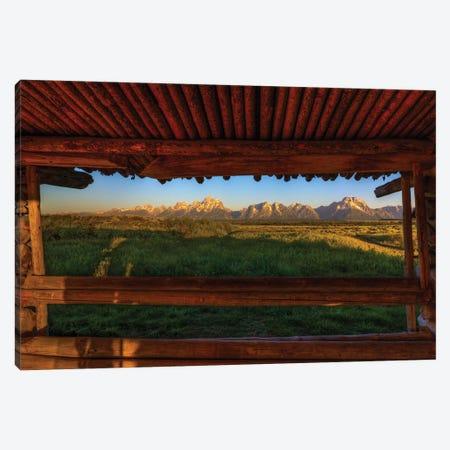 Breezeway View Of The Grand Tetons Canvas Print #SHL72} by Bill Sherrell Canvas Art Print