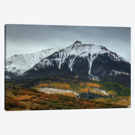 Colorado Seasons Canvas Print #SHL85} by Bill Sherrell Art Print