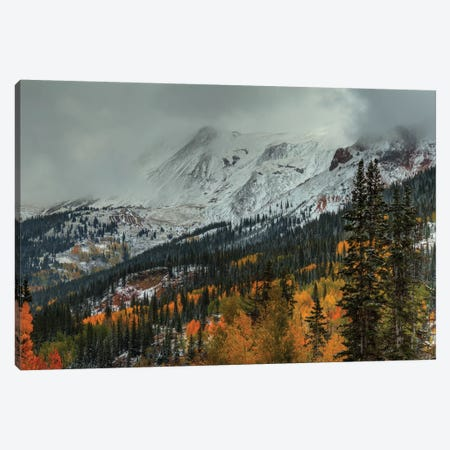 Dark Storm Over Red Mountain Pass Canvas Print #SHL89} by Bill Sherrell Canvas Artwork