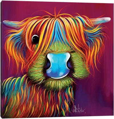 Stanley The Tartan Coo Canvas Art Print