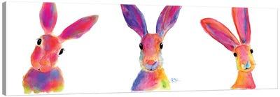 The Happy Hares Canvas Art Print