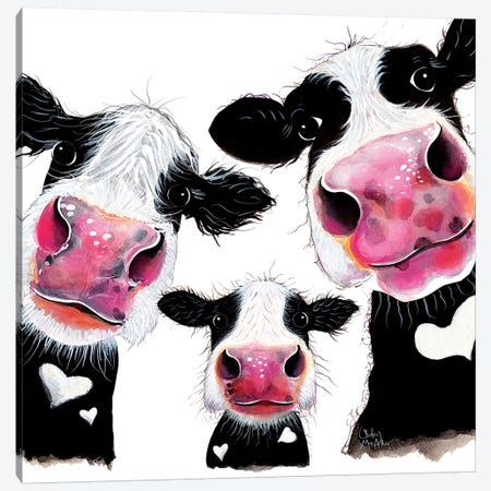 The Nosey Family II Canvas Print #SHM106} by Shirley Macarthur Canvas Artwork