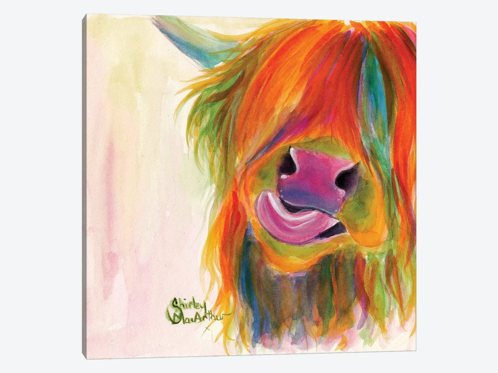 Juicy Fruit Josie by Shirley Macarthur 1-piece Canvas Print