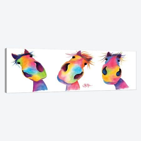 The Happy Horses Canvas Print #SHM56} by Shirley Macarthur Canvas Print