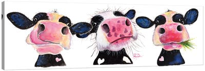 The Nosey Cows Canvas Art Print
