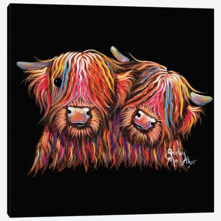 Best Buddies Canvas Print #SHM6} by Shirley Macarthur Canvas Artwork