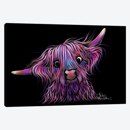 Huckleberry The Highland Cow 3-Piece Canvas #SHM89} by Shirley Macarthur Art Print