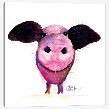 Pigs CAN Fly !! Canvas Print #SHM98} by Shirley Macarthur Canvas Art