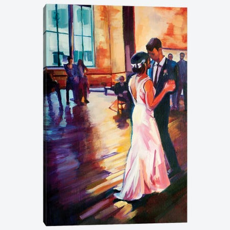 First Dance Canvas Print #SHO10} by Maxine Shore Canvas Wall Art