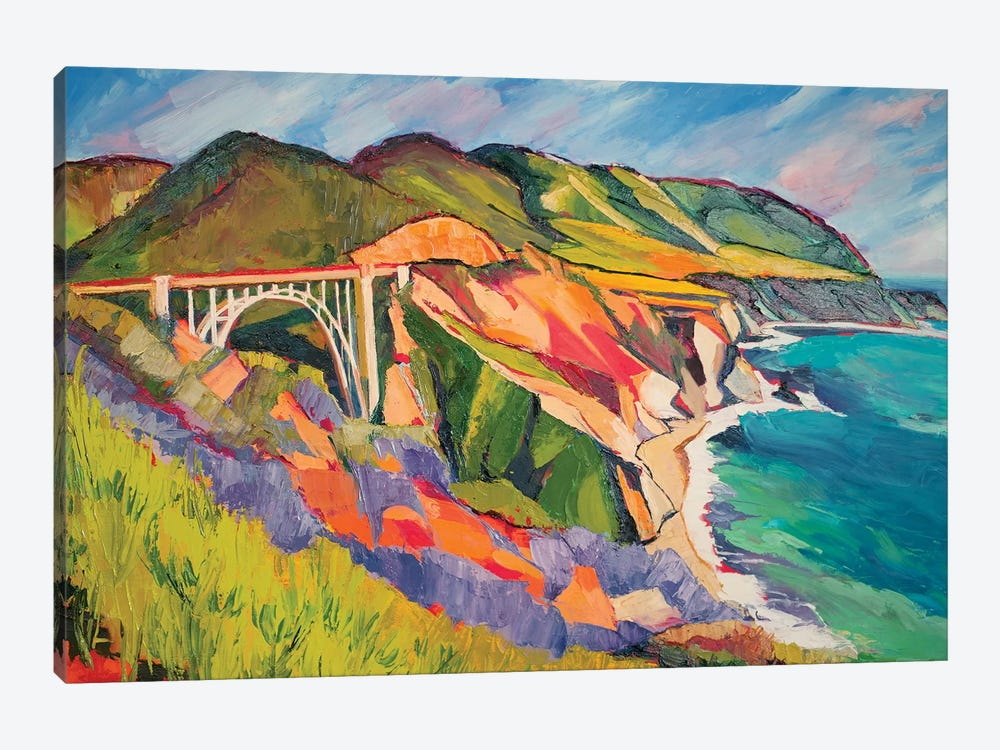 Highway 1 by Maxine Shore 1-piece Canvas Print