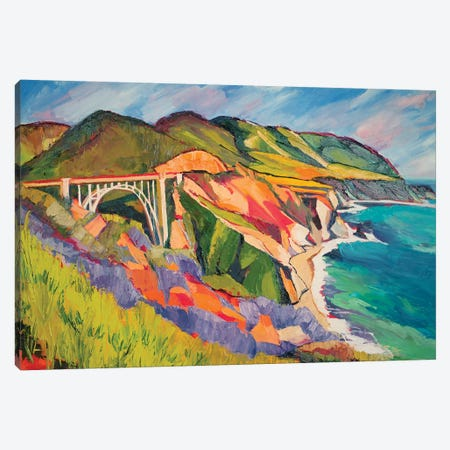 Highway 1 Canvas Print #SHO11} by Maxine Shore Canvas Wall Art
