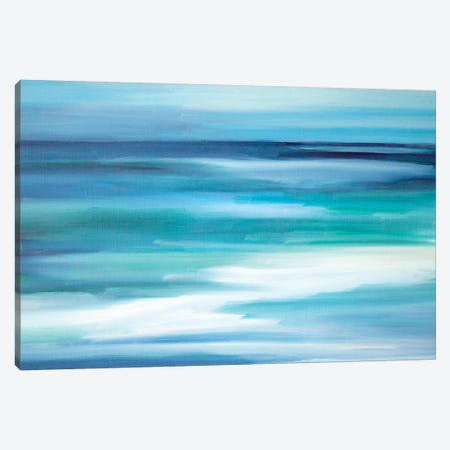 Into The Blue 3-Piece Canvas #SHO12} by Maxine Shore Canvas Artwork