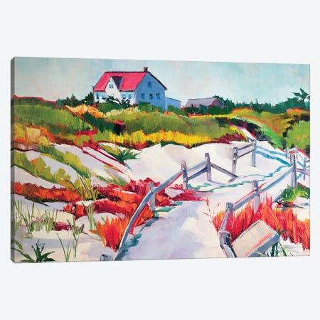 Island Beach State Park Canvas Print #SHO13} by Maxine Shore Canvas Art