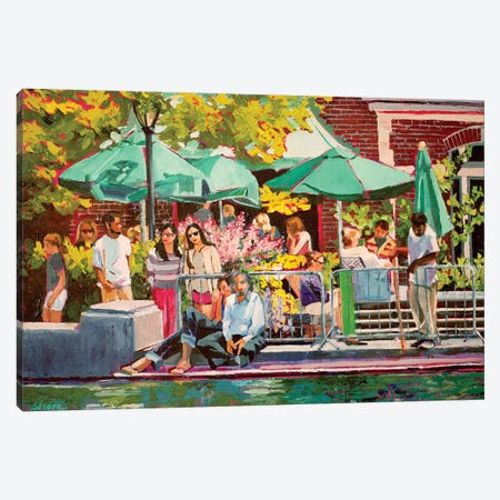 Summer In Central Park Canvas Print #SHO17} by Maxine Shore Art Print
