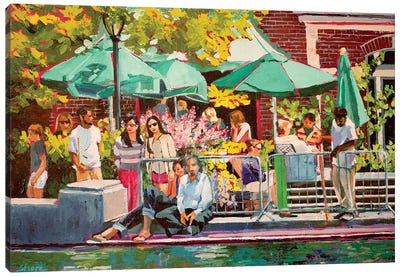 Summer In Central Park Canvas Art Print