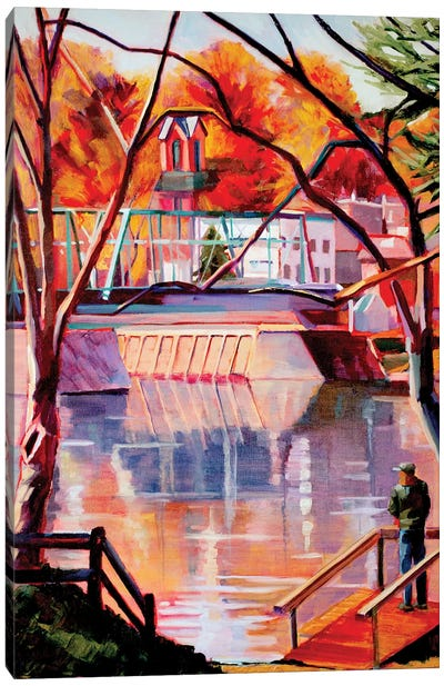 View From Lambertville Canvas Art Print