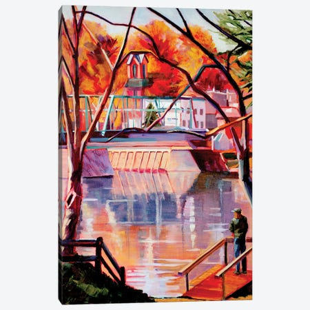 View From Lambertville Canvas Print #SHO19} by Maxine Shore Canvas Art