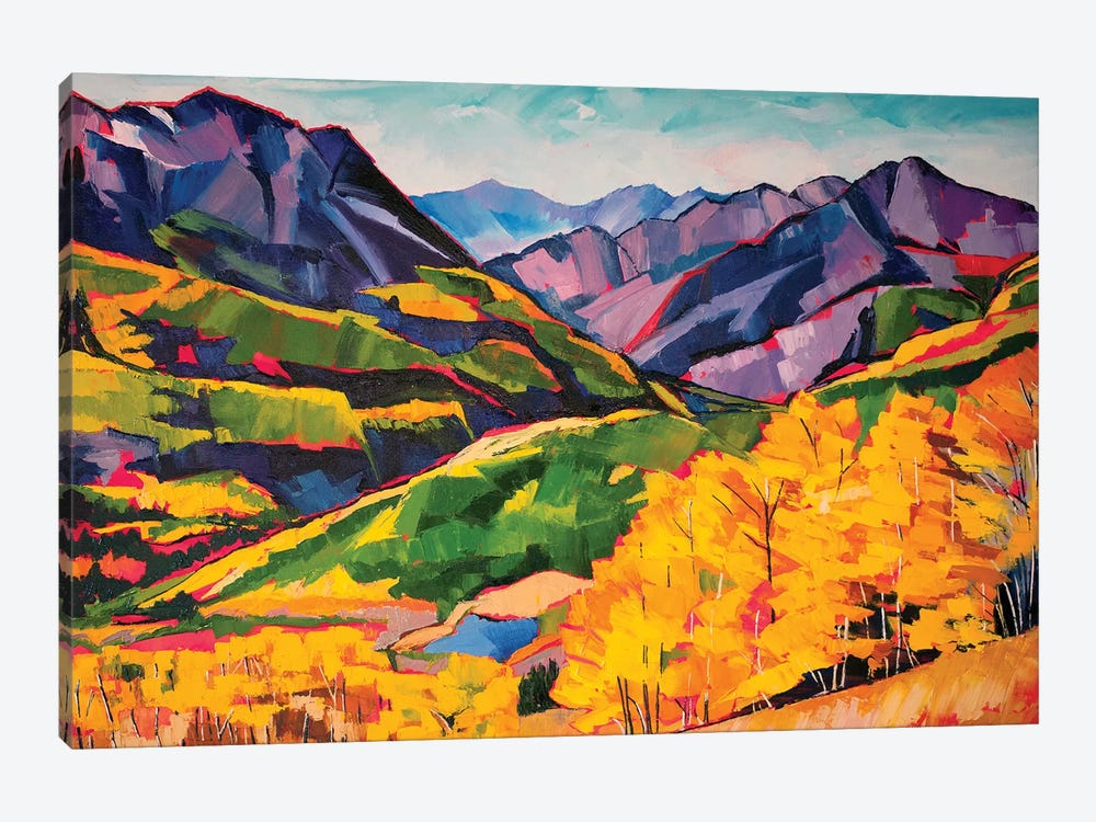 Autumn In The Mountains by Maxine Shore 1-piece Canvas Wall Art