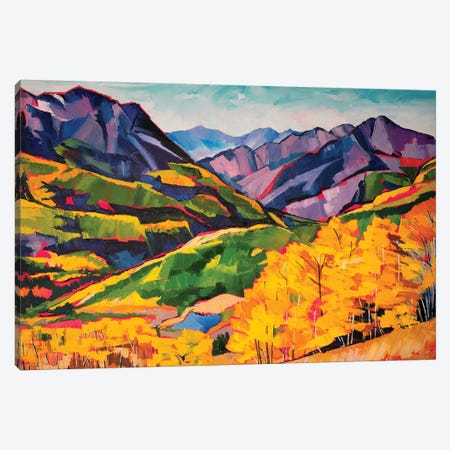 Autumn In The Mountains 3-Piece Canvas #SHO1} by Maxine Shore Canvas Print