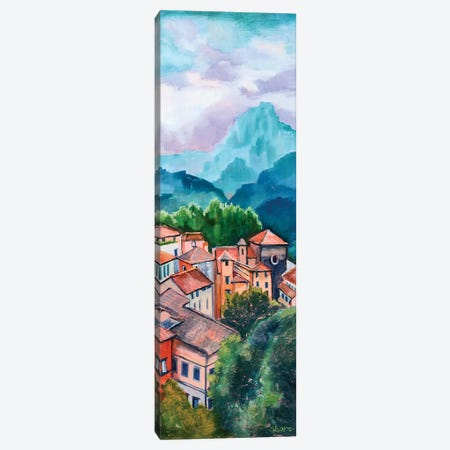 Tuscan Village Canvas Print #SHO21} by Maxine Shore Art Print