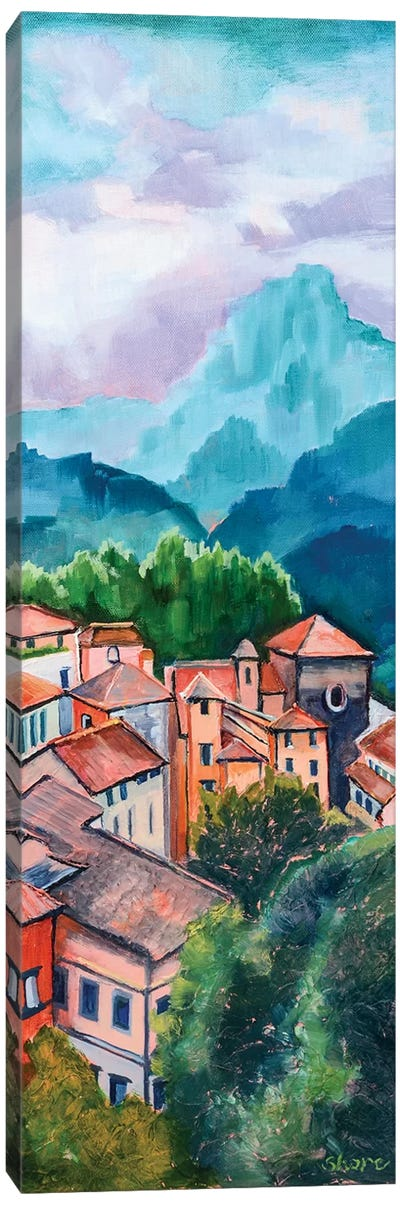 Tuscan Village Canvas Art Print