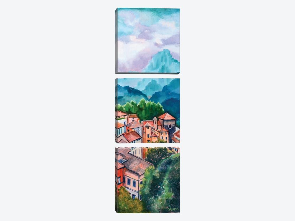 Tuscan Village by Maxine Shore 3-piece Canvas Art