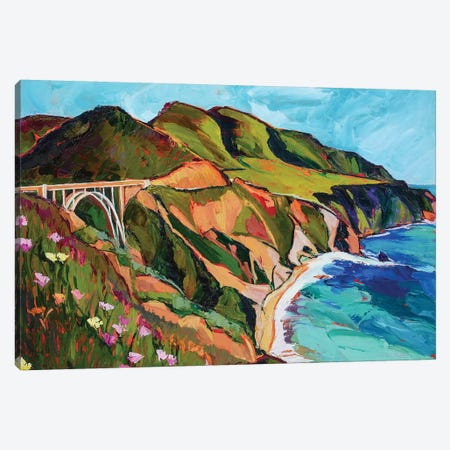 California Coastline Canvas Print #SHO25} by Maxine Shore Canvas Wall Art