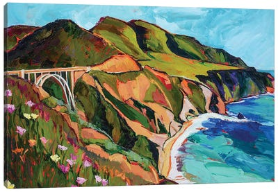 California Coastline Canvas Art Print