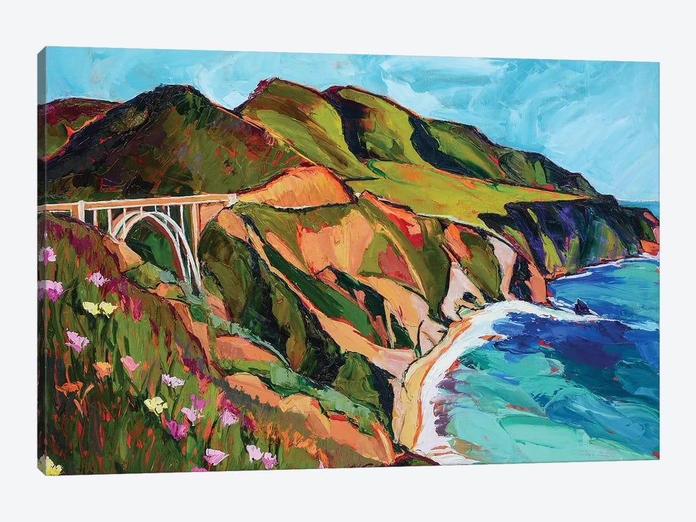 California Coastline by Maxine Shore 1-piece Canvas Artwork