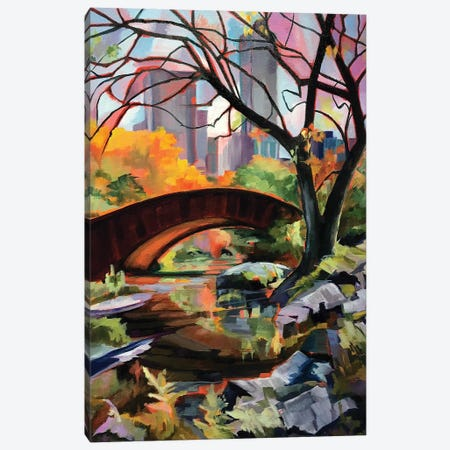 Central Park Bridge 3-Piece Canvas #SHO26} by Maxine Shore Canvas Wall Art