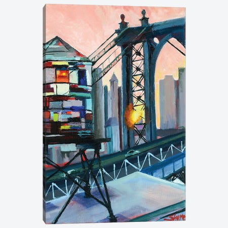 Love from the BQE Canvas Print #SHO28} by Maxine Shore Canvas Art Print