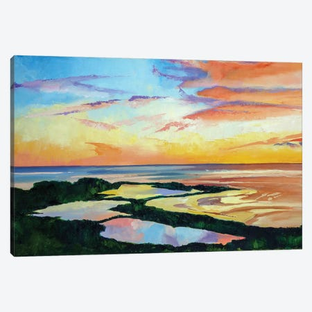 Ocean Sunset 3-Piece Canvas #SHO29} by Maxine Shore Art Print