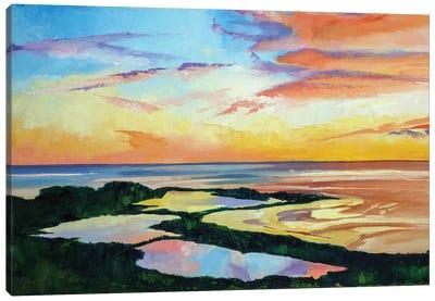 Ocean Sunset Canvas Art Print