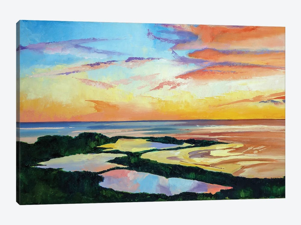 Ocean Sunset by Maxine Shore 1-piece Canvas Art