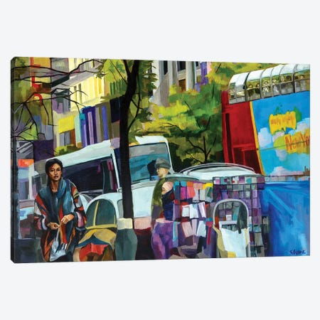 125th Street Canvas Print #SHO32} by Maxine Shore Canvas Artwork