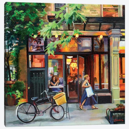 New York Bistro Canvas Print #SHO35} by Maxine Shore Art Print