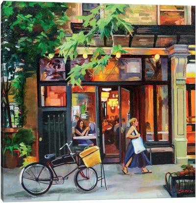 New York Bistro Canvas Art Print
