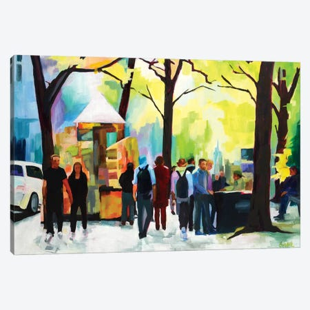 Sunday In The Park 3-Piece Canvas #SHO37} by Maxine Shore Art Print
