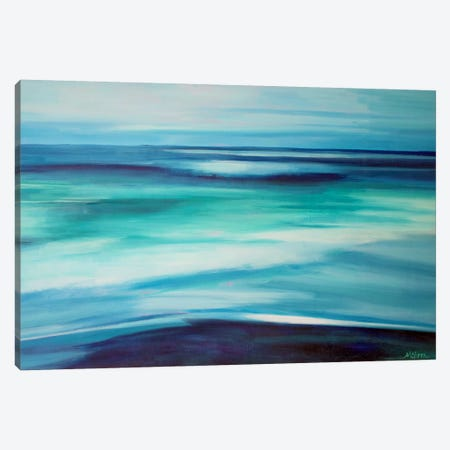 Blue Ocean Canvas Print #SHO3} by Maxine Shore Art Print