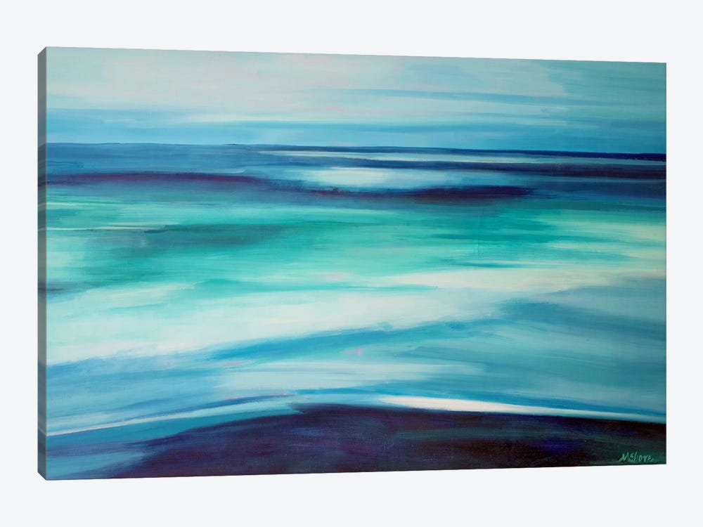 Blue Ocean by Maxine Shore 1-piece Canvas Wall Art