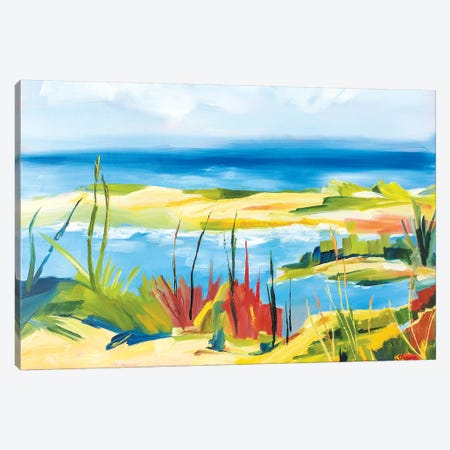 Wellfleet Beach 3-Piece Canvas #SHO40} by Maxine Shore Art Print