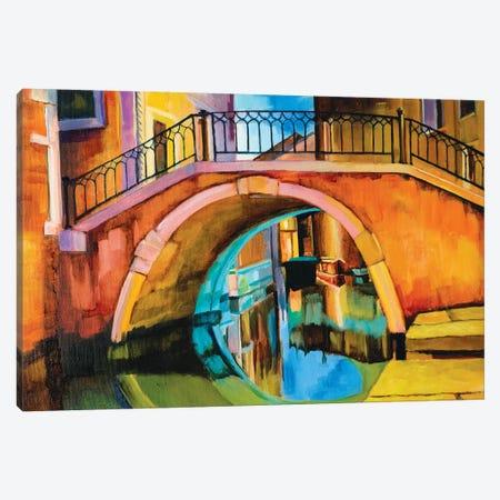Venetian Bridge Canvas Print #SHO41} by Maxine Shore Canvas Print