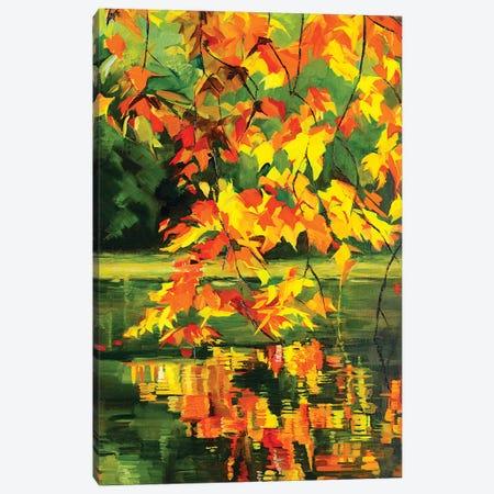 Autumn Reflections Canvas Print #SHO45} by Maxine Shore Canvas Art