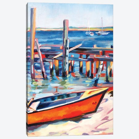Provincetown Harbor 3-Piece Canvas #SHO48} by Maxine Shore Art Print