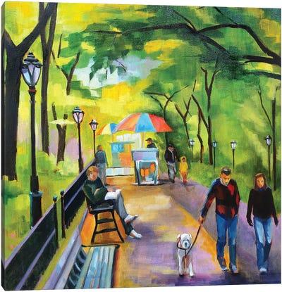 Stroll in Central Park Canvas Art Print