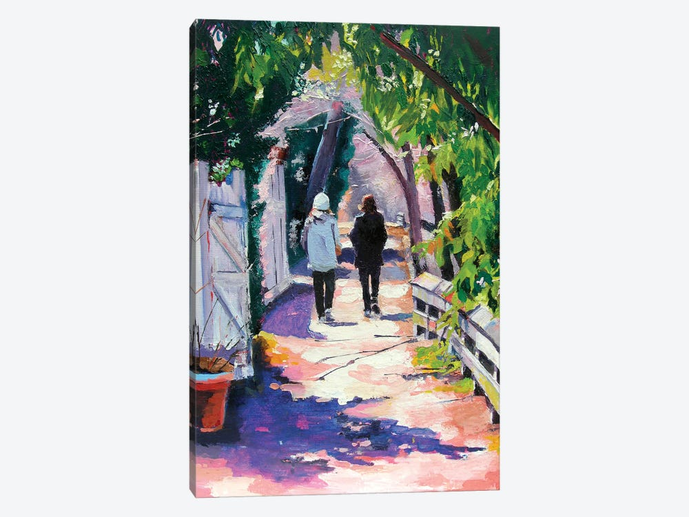 Early Morning on the Towpath by Maxine Shore 1-piece Canvas Art