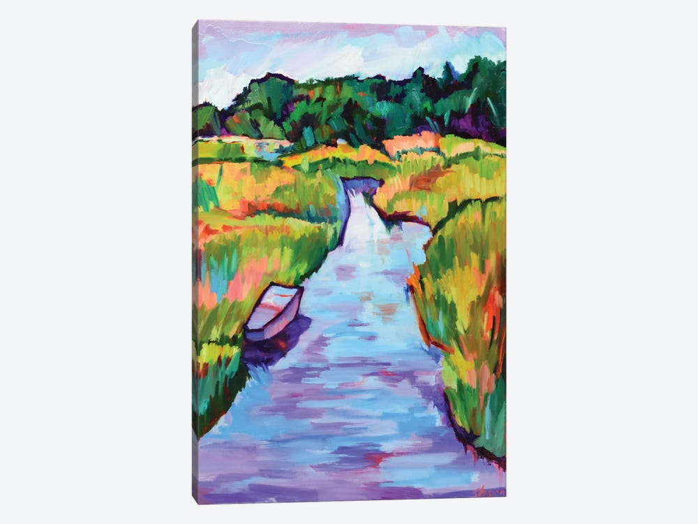 Rippling Waters by Maxine Shore 1-piece Canvas Art