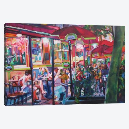 Paris Cafe Canvas Print #SHO67} by Maxine Shore Canvas Wall Art
