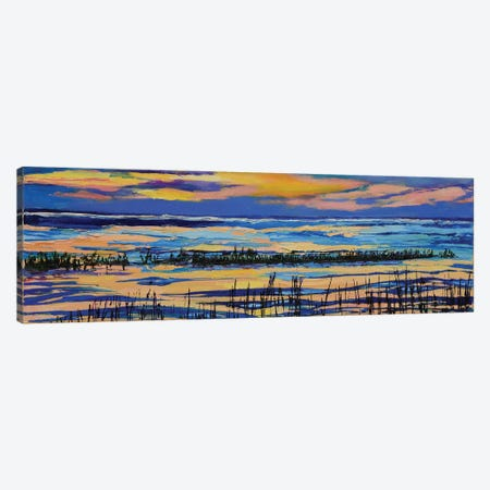Paines Creek At Sunset Canvas Print #SHO77} by Maxine Shore Canvas Print